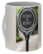 Silence And Respect Coffee Mug by Steve Gadomski