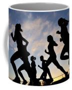 Silhouette Female Runners Coffee Mug