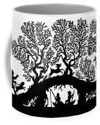 Silhouette Fishing Coffee Mug