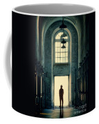 Silhouette In Doorway Coffee Mug