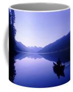 Silhouette Of A Canoeist At Sunrise Coffee Mug