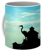 Silhouette Of A Heron Coffee Mug