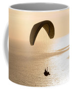 Silhouette Of A Paraglider Flying Coffee Mug