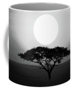Silhouette Of A Tree At Sunrise Coffee Mug