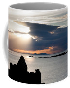 Silhouette Of Dunluce Castle Coffee Mug by Semmick Photo