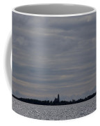 Silhouette Of Isle Royale Lighthouse Isle Royale National Park Coffee Mug by Jason O Watson