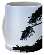 Silhouette Of Monterey Cypress Tree Coffee Mug