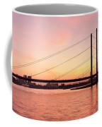 Silhouette Of Rheinturm Tower Coffee Mug