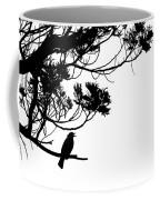 Silhouette Of Singing Common Blackbird In A Tree Coffee Mug by Stephan Pietzko