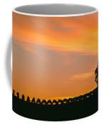 Silhouette Of Vineyard At Sunset, Paso Coffee Mug