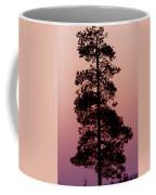 Silhouette Tree At Sunrise Coffee Mug