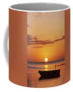 Silhouetted Boat Coffee Mug