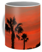 Silhouetted Palm Trees Coffee Mug