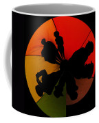 Silhouettes Around The Balloon Coffee Mug