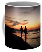 Silhouettes On Varadero Beach Coffee Mug
