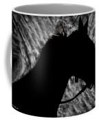 Silouette Of A Stallion Coffee Mug