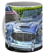 Silver 1963 Austin Healey Roadster 3000 Coffee Mug