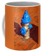 Silver And Blue Hydrant Coffee Mug