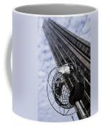 Silver And Blue Planet Earth Coffee Mug