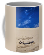 Silver Lake Dune With Dead Tree Branch And Cirrus Clouds Coffee Mug