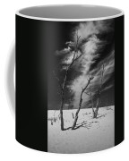 Silver Lake Dune With Dead Trees And Cirrus Clouds In Black And White Coffee Mug