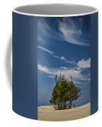 Silver Lake Dune With Tree Grove And Cirrus Clouds Coffee Mug