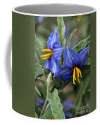 Silver Leaf Blooms Coffee Mug