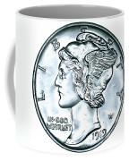 Silver Mercury Dime Coffee Mug