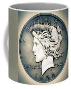 1922 Silver Proof Peace Dollar Coffee Mug