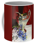 Silver Pitcher And Bluebonnet Coffee Mug