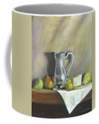 Silver Pitcher With Pears Coffee Mug