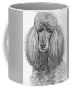 Silver Standard Poodle Drawing Coffee Mug