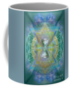 Silver Torquoise Chalicell Ring Flower Of Life Matrix II Coffee Mug