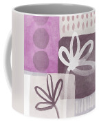 Simple Flowers- Contemporary Painting Coffee Mug by Linda Woods