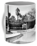 Sinatra Pool And Cabana Bw Palm Springs Coffee Mug