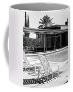 Sinatra Pool Bw Palm Springs Coffee Mug