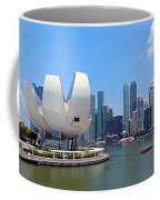 Singapore Artscience Museum And City Skyline Coffee Mug