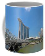 Singapore Artscience Museum Double Helix Bridge And Marina Bay  Coffee Mug