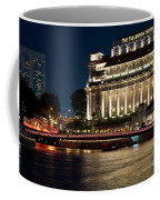 Singapore Fullerton Hotel At Night 02 Coffee Mug