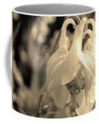 Single White Columbine Monochrome Coffee Mug