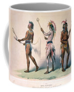 Sioux Lacrosse Players Coffee Mug