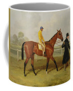 Sir Tatton Sykes Leading In The Horse Sir Tatton Sykes With William Scott Up Coffee Mug