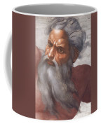Sistine Chapel Ceiling Creation Of The Sun And Moon Coffee Mug by Michelangelo Buonarroti