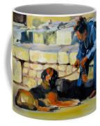 Sitting With A Dog Coffee Mug