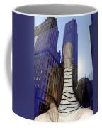 Sitting In Stripes Coffee Mug