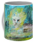 Sitting Lion Oil Portrait Coffee Mug