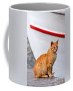 Sitting On Pier Coffee Mug
