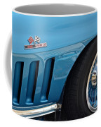Sixty Six Corvette Roadster Coffee Mug by Frozen in Time Fine Art Photography