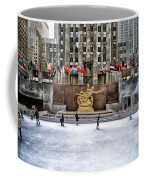 Skating At Rockefeller Plaza Coffee Mug