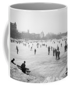 Skating In Central Park Coffee Mug by Anonymous